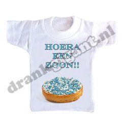Hoera Een Zoon Flessen T-shirt