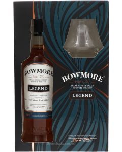 Bowmore Legend Cadeau + glas