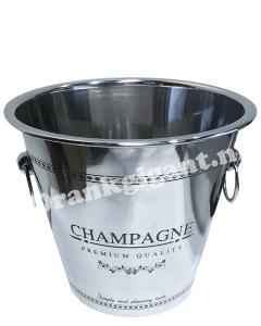 Ijsemmer RVS Champagne met Oren