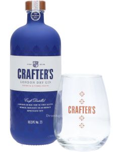Crafter's London Dry Gin + Gratis Glas