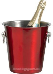 Champagne Koeler Rood RVS