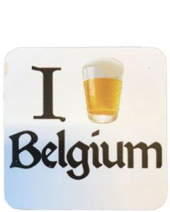 I Beer Belgium Biervilt Wit
