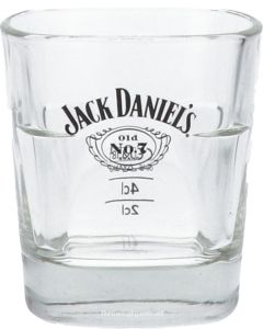 Jack Daniels Whiskey Glas zwart logo