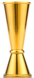 Jigger Viking Gold Plated 20/40 ml