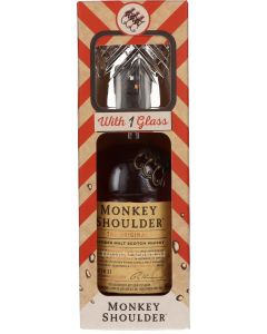 Monkey Shoulder Met Glas