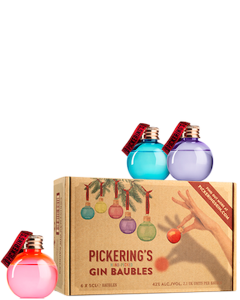 Pickering's Christmas Gin Kerstballen Set
