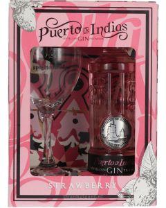 Puerto de Indias Sevillian Strawberry Gin Giftpack