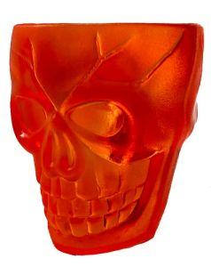 Skull Glas Orange